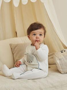 Boy's velvet teddy bear romper and baby bonnet BOCKE B / 21H0NGK1GRE001