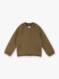 Khaki cardigan child girl ZASOETTE / 21E2PF71CAR604