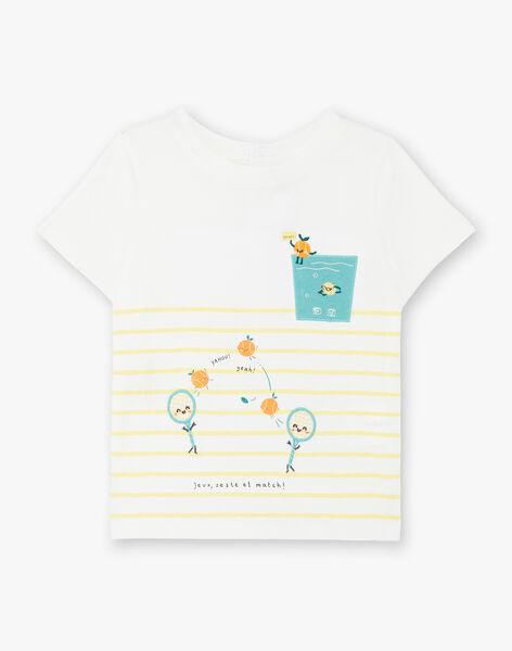 T-shirt ecru baby boy ZAMOMO / 21E1BGO1TMC001