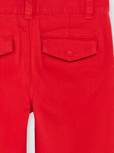 Red twill regular pants ZAGRETAGE / 21E3PGI3PAN050