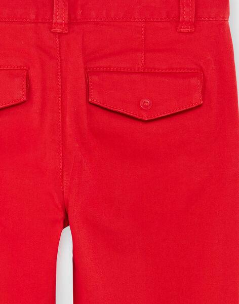 Red twill regular pants ZAGRETAGE / 21E3PGI3PAN050