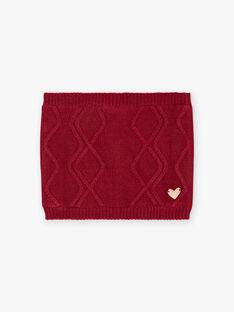 Girl's heart badge snood in black BLOLOETTE / 21H4PFD1SNOD302