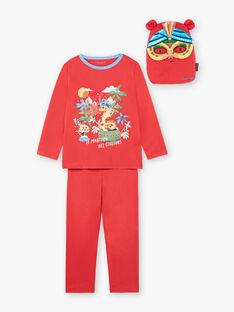 Red fancy pyjamas with pocket and mask child boy ZIPIMAGE1 / 21E5PGF2PYTE412