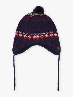 Boy's jacquard knitted ear warmer BOPERAGE / 21H4PGE2BONC228