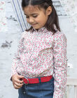 Girl's long-sleeved shirt with floral print BAFERETTE / 21H2PF11CHE001