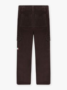 Child boy black velour multi-pocket pants BOROAGE / 21H3PGO2PAN814