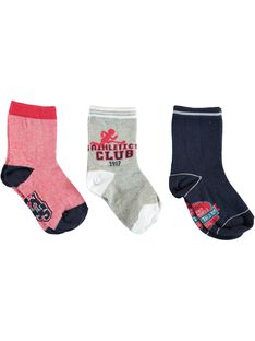 Red PACK OF 3 PAIRS OF SOCKS VUCHAGE / 20H4PGC1LC3050