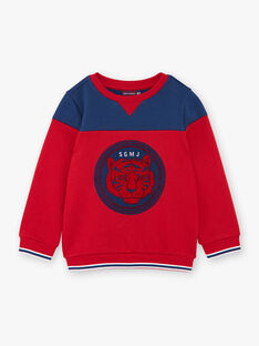 Red and blue cotton fleece sweatshirt ZAGLAGE / 21E3PGI1SWE502