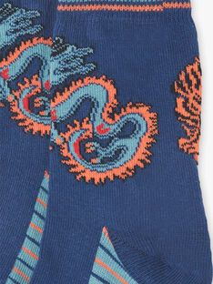 Blue and orange tiger and dragon socks ZAGNAGE / 21E4PGI1SOQ705