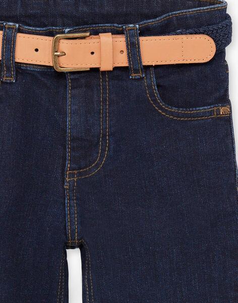 Baby boy dark blue jeans with belt BIDISAGE / 21H3PGJ1JEAP270