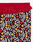 Girl's navy blue and red flower print legging BILIETTE / 21H4PF52CAL070