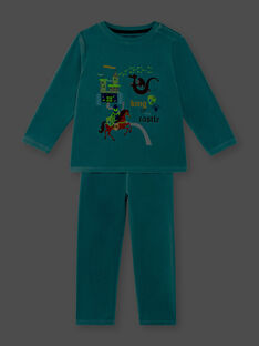 Pyjamas with phosphorescent details for children and boys ZEBARAGE / 21E5PG13PYJ204