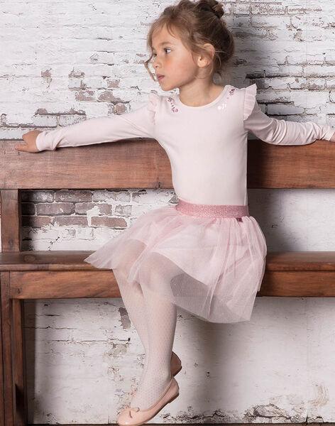 Girl's pink bodysuit BRODYETTE / 21H2PF31BDSD310