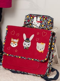 Navy blue pencil case with rabbit design for girls BIHUETTE / 21H4PF51TRO070