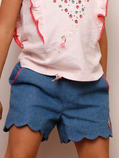 Denim shorts with belt ZONORETTE / 21E2PFJ1SHOP269