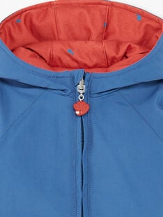 Reversible navy blue and red parka ZUBOBO / 21E1BGM1PARC230