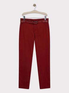 Burgundy pants SIREGULAGEM / 19H3GHU1PAN719