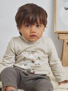 Baby Boy's Beige Fancy Ski Underpants BASEDOU / 21H1BGO1SPLA011