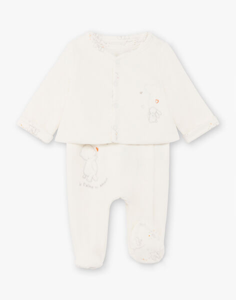 Mixed birth sleep suit and jacket ecru BOANDY / 21H0NM42ENS001