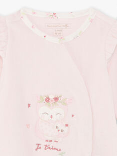 Pink sleep suit and bonnet birth girl BOUDY B / 21H0NF41GRE301