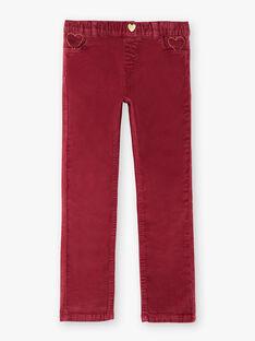 Pink PANTS VELOURETTE 2 / 20H2PFG1PAND302