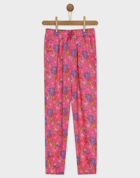 Rose pants RUIVOLETTE / 19E2PFP1PAN309