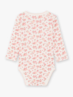 Baby girl's 3 white and pink bodysuits BEFILLE / 21H5BF81BDL001