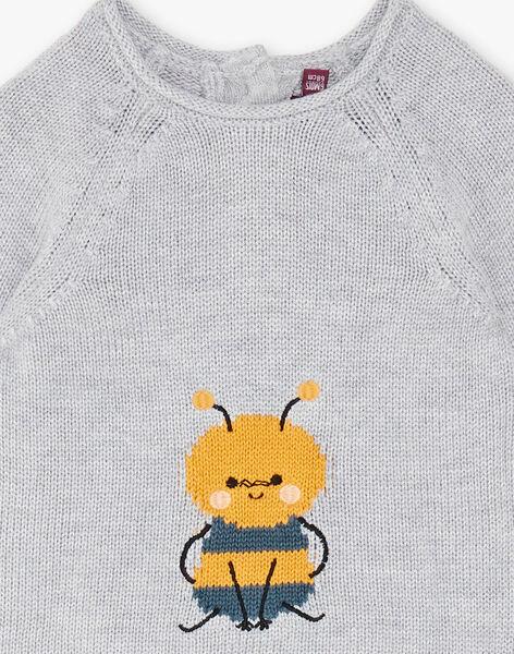 Heather grey sweater ZACAJE / 21E1BG91PULJ920