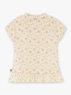 Bee blouse ecru and yellow ZEABETTEEX / 21E2PF92CHE001