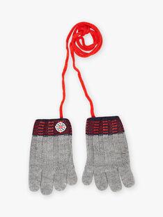 Child boy's mottled grey knitted gloves BUGANTAGE / 21H4PGE3GAN943