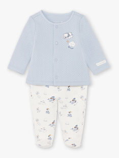 Sky and white vest and pants birth boy BONIFACIO / 21H0NG42ENS219
