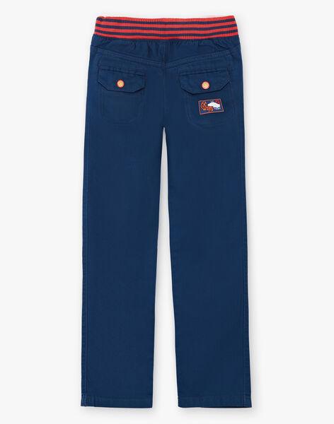 Blue pants with elastic waistband ZAFUNAGE / 21E3PGI1PAN705