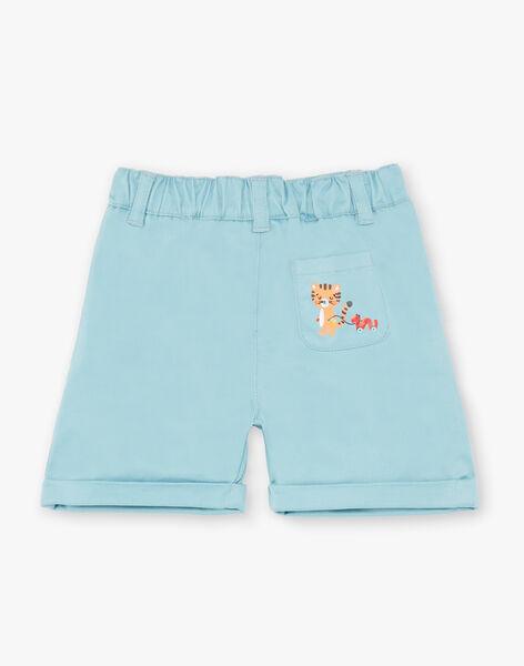 Light blue twill shorts ZAITALY / 21E1BGI1BER629