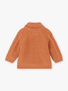 Baby Boy Brown Knitted Vest BALUBIN / 21H1BGJ1GIL809