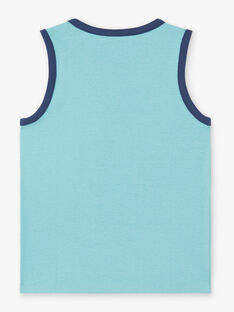 Tank top azure blue child boy ZUXIAGE1 / 21E3PGL2DEBC201