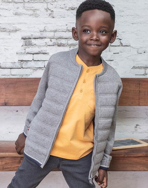 Boy's grey knitted cardigan BUXATAGE2 / 21H3PGB2GIL941