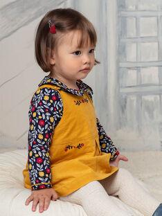 Baby girl saffron yellow dress BAESTELLE / 21H1BF51CHS109