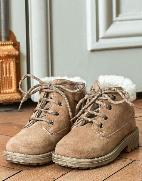 Child boy camel furry boots BANUBAGE / 21F10PG51D0D804