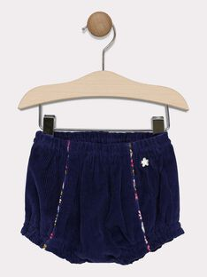 Baby girls' navy bloomer shorts SAELODIE / 19H1BF41SHO070