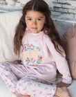 Girl's pyjama T-shirt and pink pants BEBICHETTE / 21H5PF63PYJD300