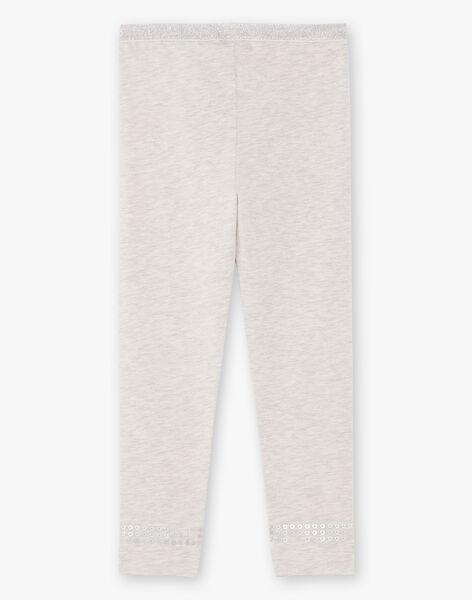 Girl's plain grey legging BRONETTE 1 / 21H4PFB4CTT943
