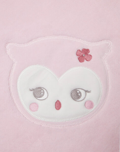 Pale pink blanket birth girl BOA / 21H0AF41D4P301