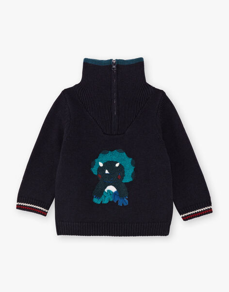 Baby Boy Navy Sweater BAJACQUES / 21H1BG91PUL715