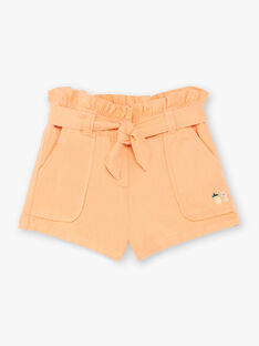Orange shorts child girl ZIJOETTE / 21E2PFO1SHO406