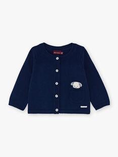 Navy blue vest for boys BORTOLO / 21H0CG41GIL070