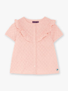 Powdered pink blouse in English embroidery ZACHETTEEX / 21E2PF72CHED327