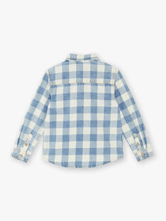 Blue and ecru shirt for boys ZECIAGE / 21E3PGB1CHMC230