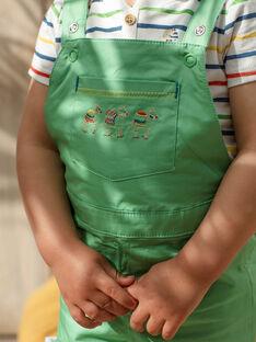 Baby boy green short overalls TARABI / 20E1BGQ1SAC611