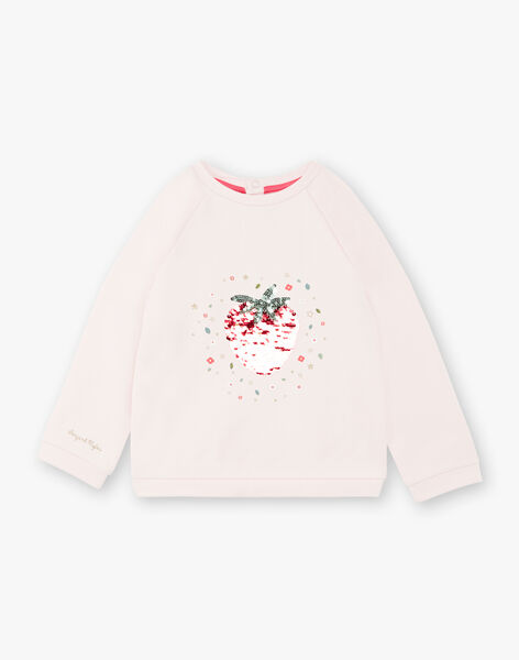 Pink strawberry sequins sweatshirt ZESWETTE 2 / 21E2PFJ1SWE301
