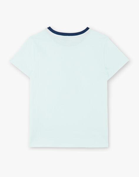 Water green T-shirt in cotton jersey ZAGRILAGE / 21E3PGI2TMC614